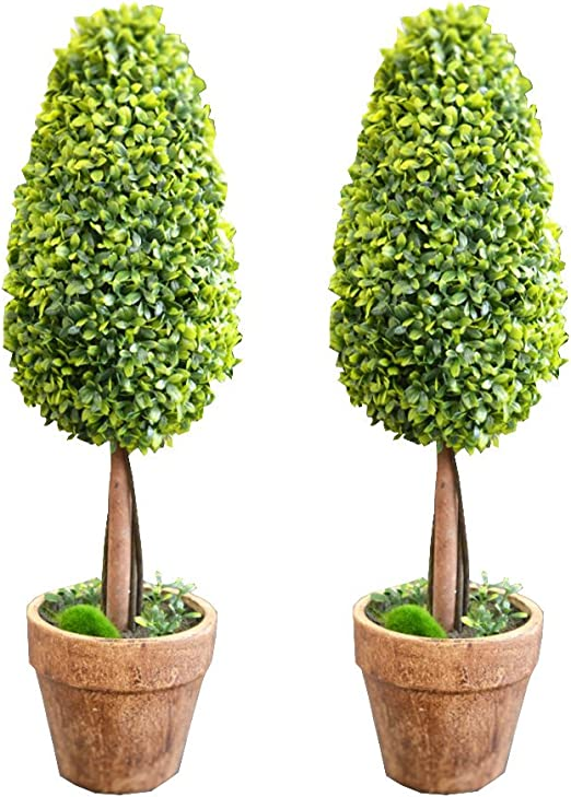 Amazon Com J Beauty Artificial Plant 2pcs Shrub Bush Boxwood
