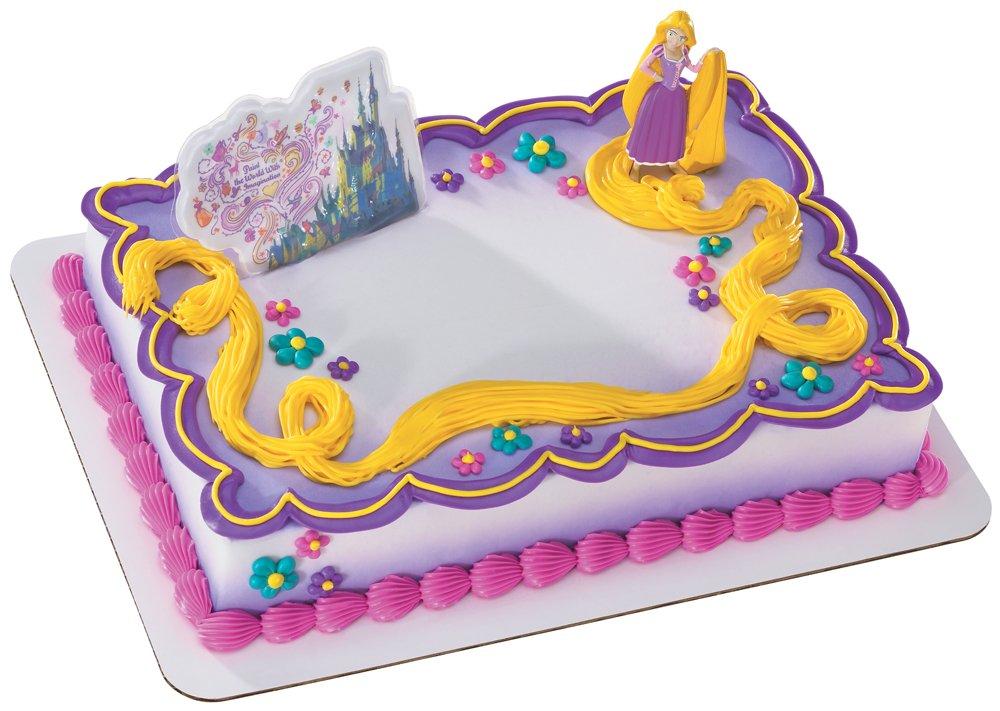 amazon com decopac tangled rapunzel decoset toys games on tangled rapunzel birthday cake party decorating ideas