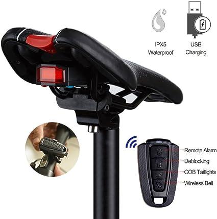 Wireless Anti Theft Cycling Bicycle Bike Security Alarm Lock Rear Smart Tailight