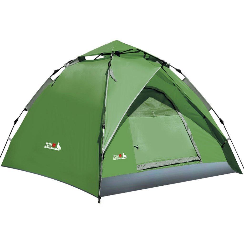 Automatische Außenzelt 3-4 Personen-Multiplayer mit doppelter Geschwindigkeit geöffnet Camping Zelten regen Anzug
