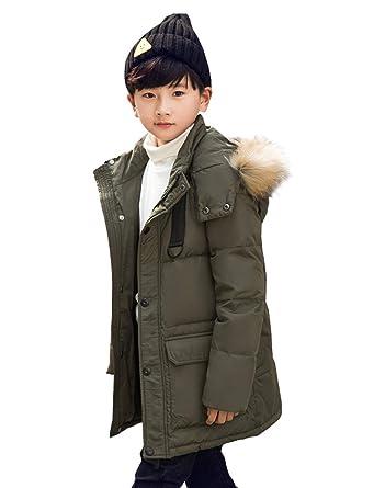 29e4af03d Amazon.com  YOUBUY Big Boy Kids Winter Puffer Down Jacket Coat with ...