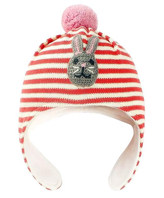 Happy cherry - Beanie Gorro Tejido de Algodón Forro Polar Knit Hat ...