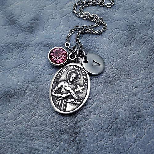 - Saint Gerard Necklace. Pregnancy, Baby Shower, New Mom Gift