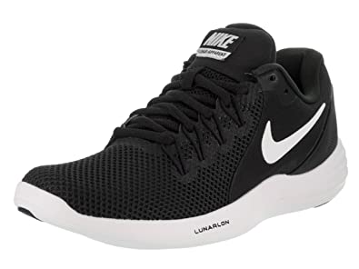 NIKE Women's Lunar apparent Black/White Cool Grey Running Shoe 6 Women US