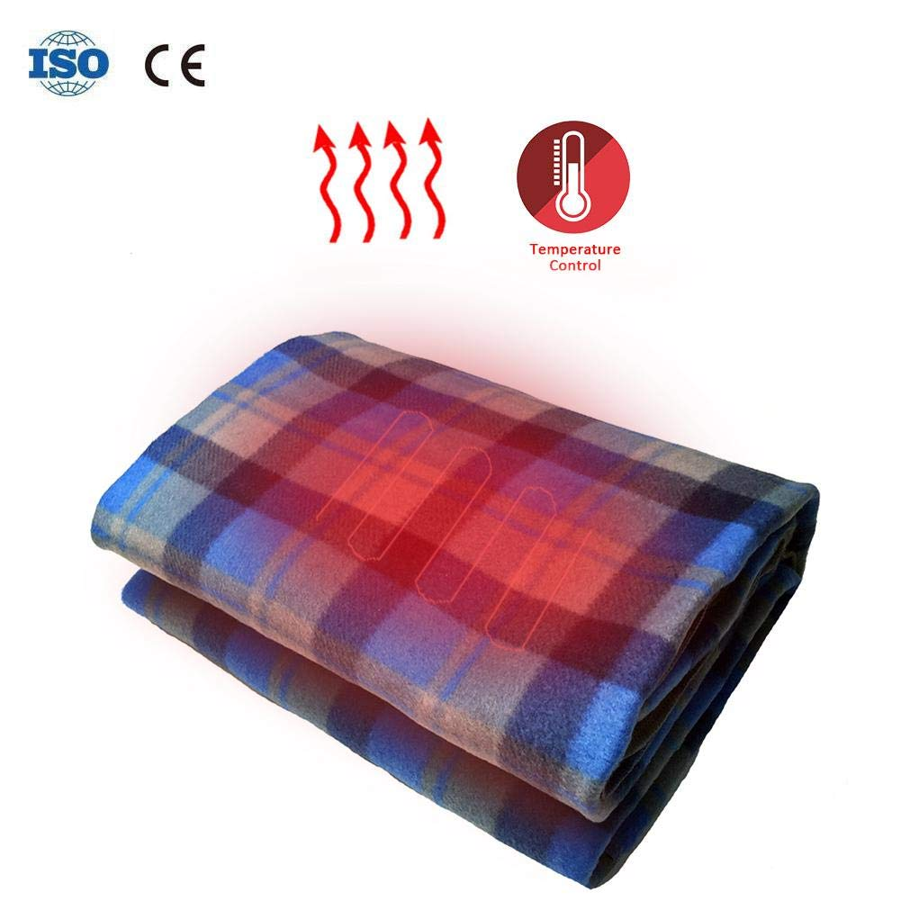 DLMZY Heated Blanket Heating Pad Electric Heated Throw Blanket with Auto Shut Off Electric Blanket Fast-Heating Soft Warm Warming Pad 34 29 8CM//13 11 3