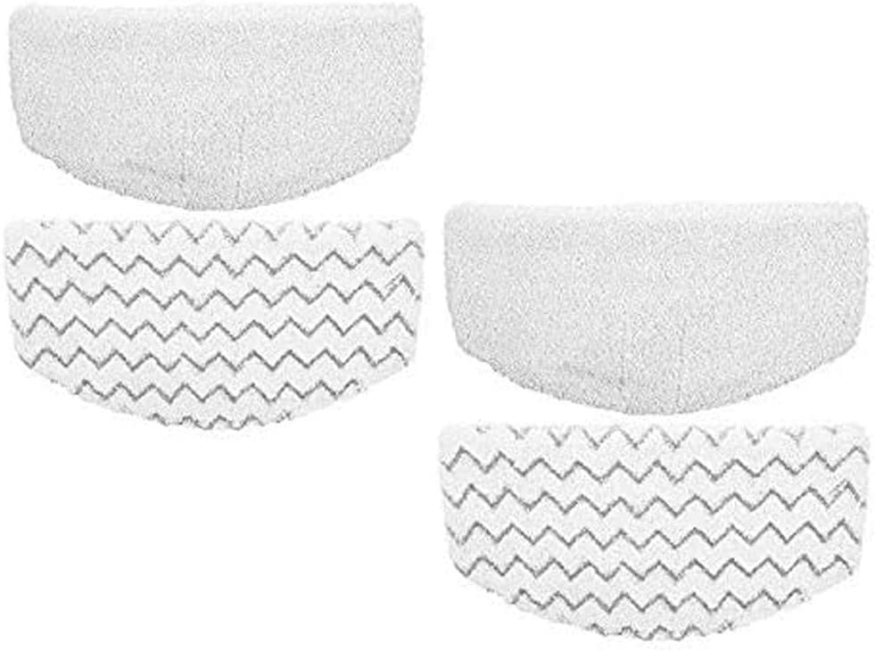 USSJ Reusable Steam Mop Pads Compatible with Bissell PowerFresh 1940 Series Steam Mop,Durable Washable Steam Mop Replacement Pads (4Pcs)