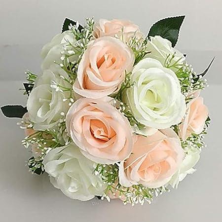 Floryday Artificielles De Mariee Bouquet De Mariage Fleur Centre