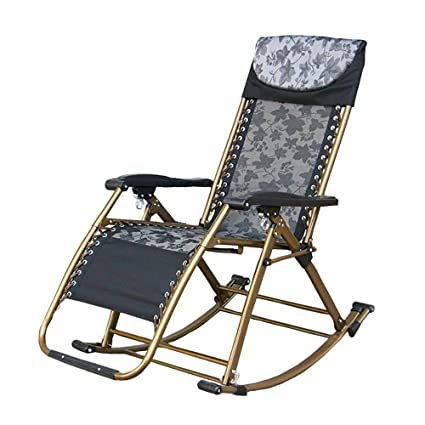 Amazon.com: Rocking Chair Adult Folding Recliner Balcony ...