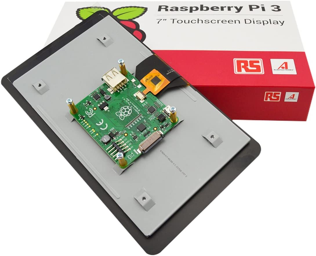 """Rs Raspberry Pi 7/"""" Lcd Touch Screen Case Black Gift Xmas US SELLER New"""