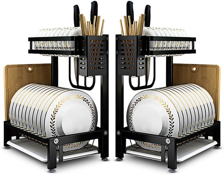 2層201ステンレス鋼キッチンカウンター皿ラックドレンラック箸キッチンナイフまな板収納ラック35 * 22 * 40.5 cm