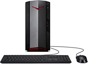 Acer Nitro 50 Gaming Desktop, 10th Gen Intel Core i5-10400F 6-Core Processor, GeForce GTX 1650, 8GB DDR4, 512GB NVMe M.2 SSD, Intel WiFi 6, Keyboard and Mouse, N50-610-UR14