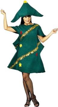 NET TOYS Traje de árbol de Navidad para Mujer Disfraz Navidad ...