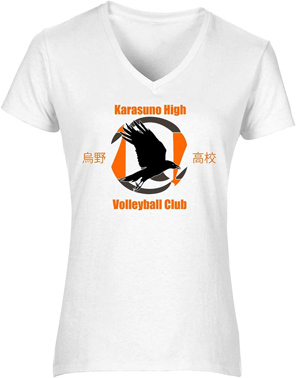 NoMoreFamous Karasuno High Volleybal Haikyuu Womens T-Shirt V ...