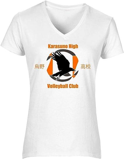 NoMoreFamous Karasuno High Volleybal Haikyuu Womens T-Shirt V ...