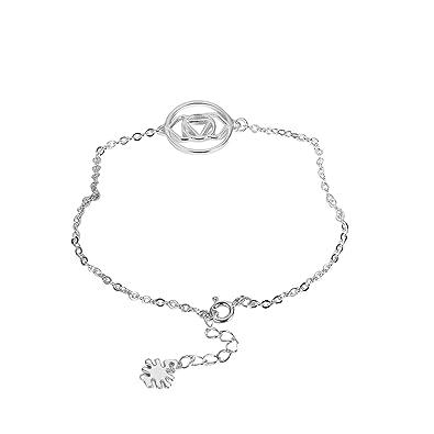 Epinki Jewellery Women Pendant Necklace 925 Sterling Silver Sunflower White Chain Length: 40+5 CM ILSc0x6