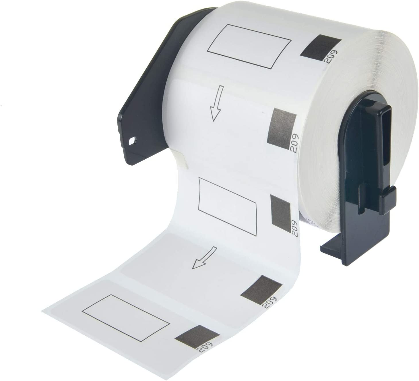 Die-Cut Length Paper Tape Labels with Cartridge for QL-500 QL-570 QL-720NW QL-1050 QL-1060N KCMYTONER 29mm x 62mm Compatible for Brother DK-1209 DK1209 1-1//7 x 2-3//7 8 Roll, 800 Labels per roll