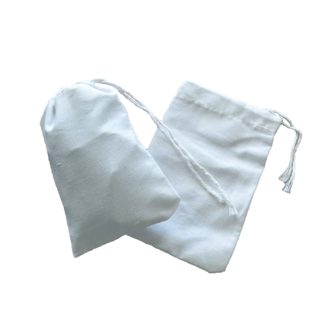 100 Pcs Non-Woven Muslin Drawstring Bags Strainer Tea Spice Separate Filter Bag Luwu-Store