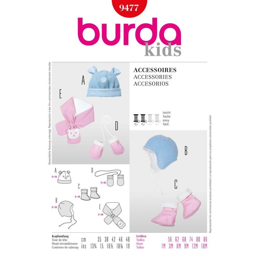 Burda Schnittmuster 9477 Baby M?tzen, Schuhe, Handschuhe Gr. 35-48 ...
