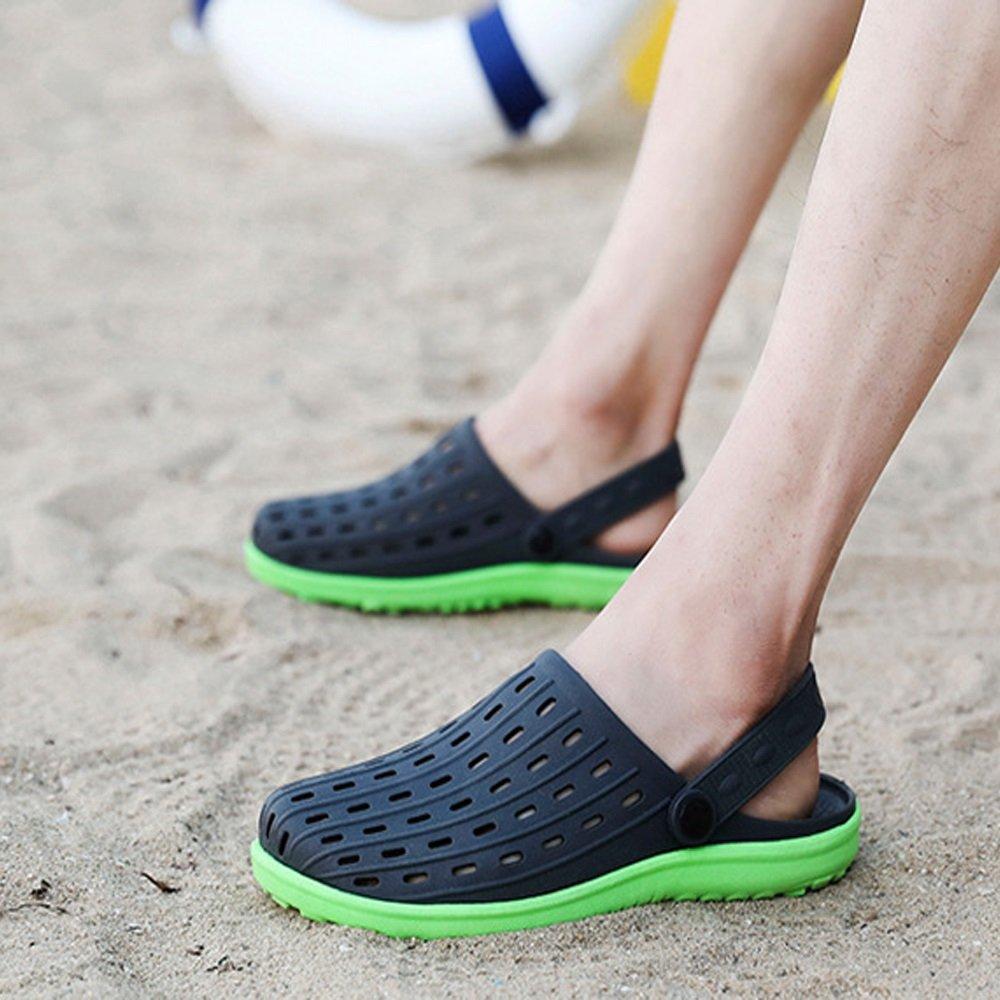 Xiaoqin Herren Outdoor Clogs Sandalen geeignet Freizeit für Indoor und Outdoor Freizeit geeignet Sport (Farbe : Grayish schwarz, Größe : 42 EU) schwarz And Grün 79f9cf