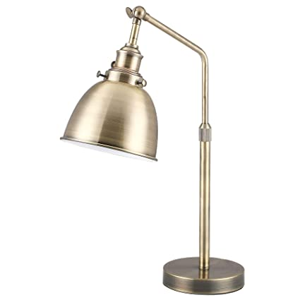 Enjoyable Co Z Vintage Gold Desk Lamp With Led Bulb Metal Office Task Lamp Adjustable Modern Industrial Style Work Lamp Antique Brass Reading Lamp Etl Download Free Architecture Designs Xaembritishbridgeorg