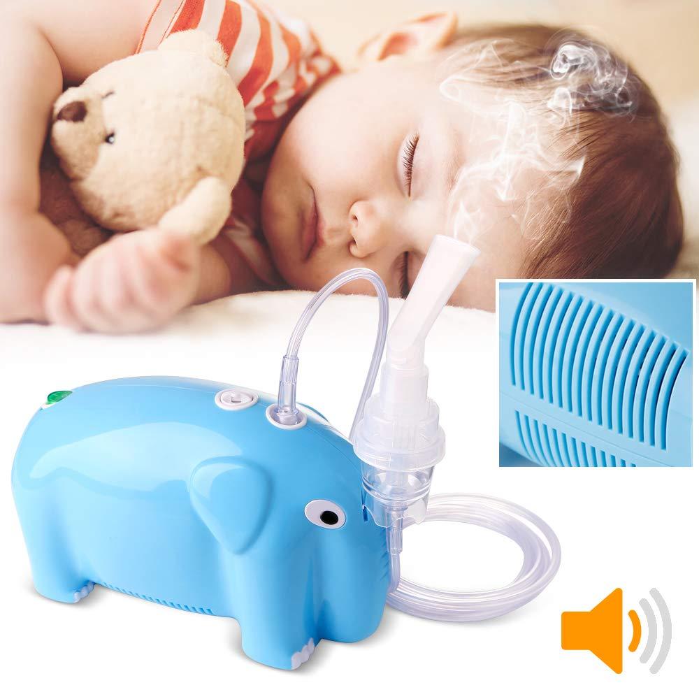 Cool Mist Inhaler for Kids Compressor System Cool Mist Inhaler for Children [Cute Elephant]