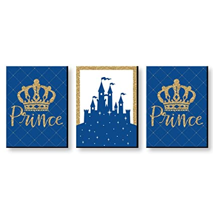 Big Dot Of Happiness Royal Prince Charming Baby Boy Nursery Wall Art And Kids Room Decorations Christmas Gift Ideas 7 5 X 10 Inches Set Of 3