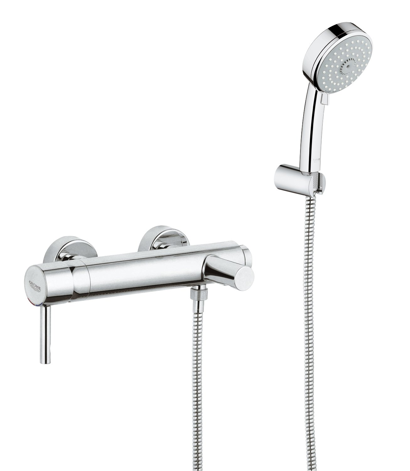 GROHE 33628000 | Essence Bath Tap and Shower Set | 3 Sprays: Amazon ...