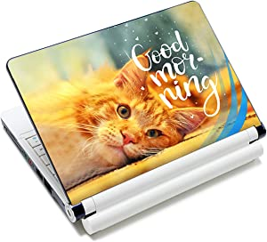 Laptop Stickers Decal,12 13 14 15 15.6 inches Netbook Laptop Skin Sticker Reusable Protector Cover Case for Toshiba Hp Samsung Dell Apple Acer Leonovo Sony Asus Laptop Notebook (Cute Cat)