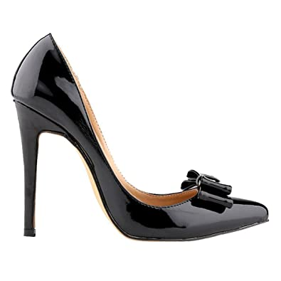 9d7f69faa59 Loslandifen Womens Closed Toe Cusp High Heels Patent Leather Wedding Pumps( 302-19PA35