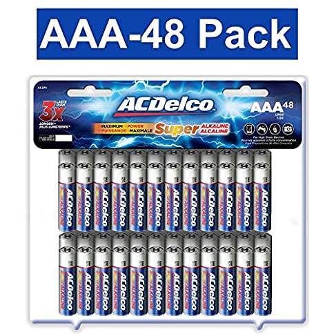 - 61nH2WlMqkL - ACDelco AAA Batteries, Triple A Battery Super Alkaline, High Performance, 48 Count