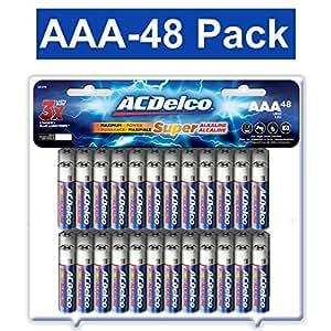 ACDelco AAA Batteries, Alkaline Battery, 48 CountPack