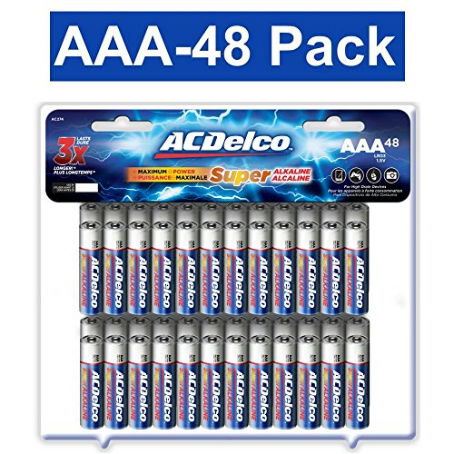 ACDelco AAA Batteries, Alkaline Battery, 48 Count Pack