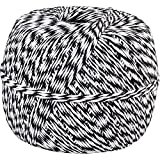 Well Groomed Made in USA 100% Cotton String Black White Baker's Twine 1/2 Lb Spool (Approx 1500 Feet / 500 Yards)