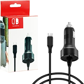 Zeato High Speed Car Charger for Nintendo Switch with Charging Cable: Amazon.es: Electrónica