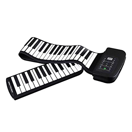 637c61de8cb Image Unavailable. Image not available for. Color  Baosity Portable 88 Keys  Silicone Flexible Roll Up Piano Foldable Keyboard Hand-rolling ...