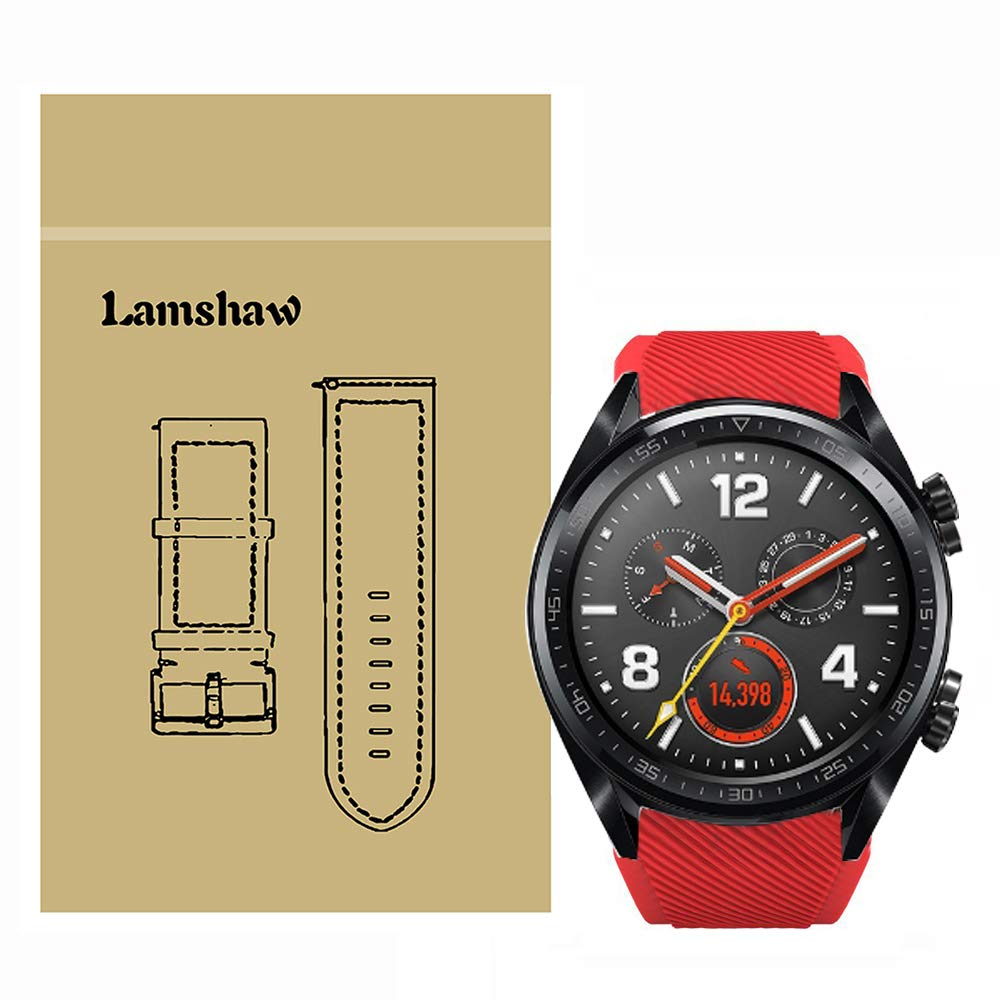 Lamshaw Classic Silicone Replacement Band for Huawei Watch GT Smartwatch (Gray)