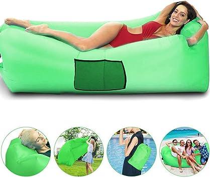 Sofá hinchable e impermeable, ideal para equipos de senderismo, sillón de playa y festivales de música