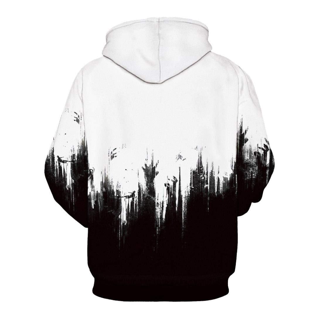 Rucan Halloween Women Men Skeleton 3D Print Long Sleeve Hoodie Sweatshirt Pullover Top by Rucan (Image #5)