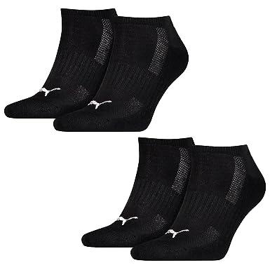 4 Paar Puma Sneaker Socken Frotteesohle schwarz | Herren