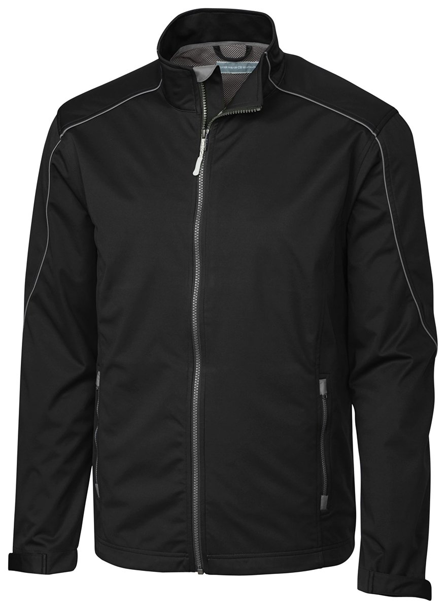 Cutter & Buck Men's Weather Resistant, Midweight Softshell Opening Day Jacket, Black, Medium by Cutter & Buck