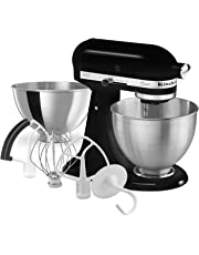 KitchenAid K45SSBFOB Classic Stand Mixer Bonus Value Bundle, 4.5 Quart Stand Mixer, Onyx Black