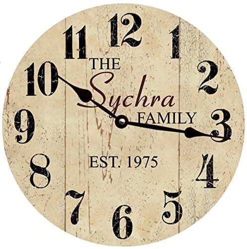 Amazon Com Personalized Family Name Clock Neutral