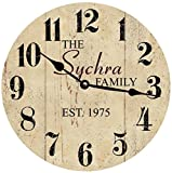 Cheap Personalized Family Name Clock- Neutral Colored Clock