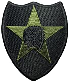 us army sewing kit - 2nd Infantry US Army Indian Head Shoulder Applique Embroidered Sew on Iron on Sign Emblem Badge Patch - Black by Ranger Return (RR-IRON-02ND-DIVI-INDN-HEAD-BLCK)