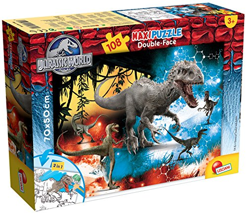 Lisciani 48663 - Jurassic Fury Puzzle DF Supermaxi, 108 Pezzi Liscianigiochi Italy