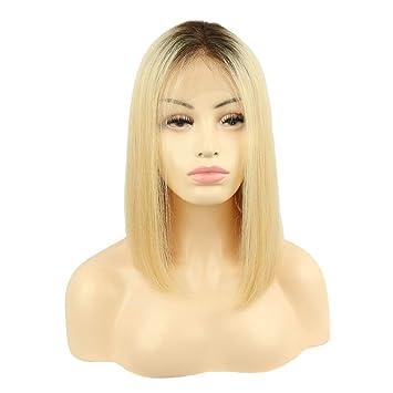 Amazoncom Joywigs 3613 Ombre Brown Blonde Brazilian Hair Lace