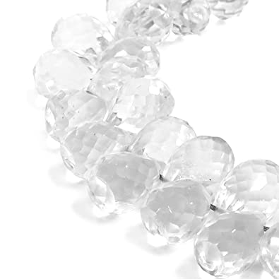 0591de5443 Amazon.co.jp: 新宿銀の蔵 水晶 6.5×4mm 天然石 ビーズ (ドロップカット ...