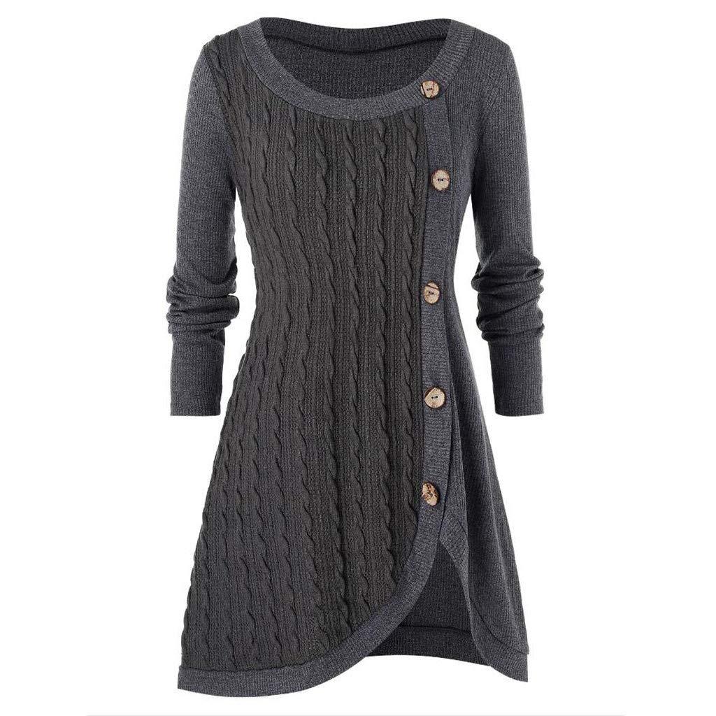 SHUSUEN Fall Winter Candy Knit Jumper Women Wool Sweater Soft Stretch OL Render Knit Pullover Knitwear S-3XL Gray by SHUSUEN