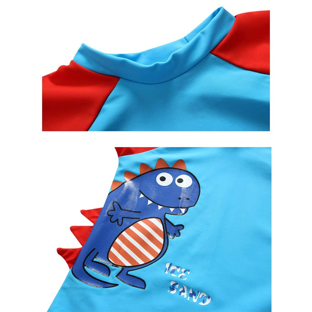 UV Protective Bathing Suit AMIYAN Baby Toddler Boys Dinosaur Swimsuits Rashguard Set Kids Two Piece UPF 50