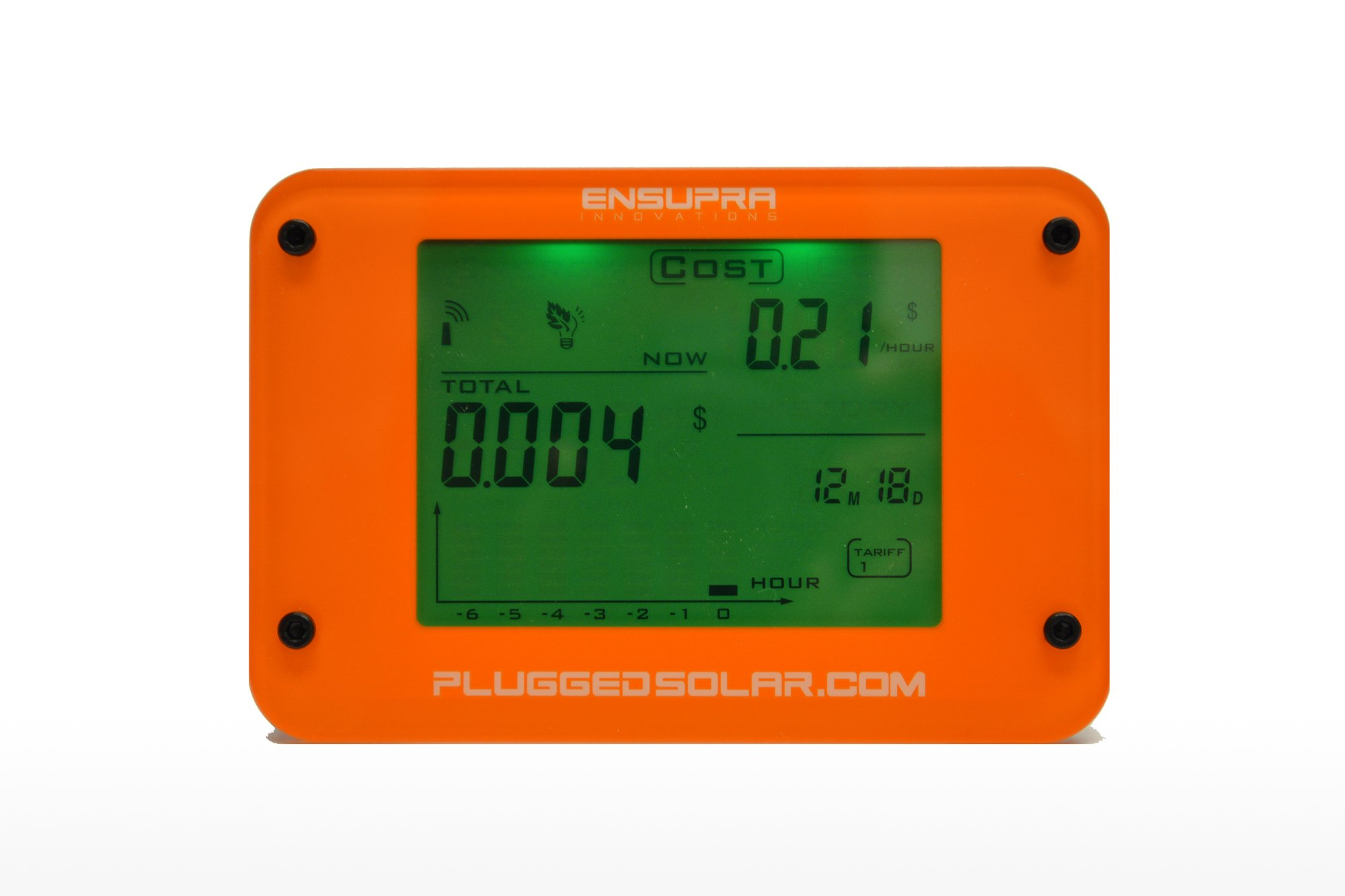 Wireless Solar Power Meter for Solar Power (AC), Monitor Displays Live KW (Kilo-Watts of AC Power Generation), Records the Solar PV Electricity Prodtion in Kwh, Shows Money Savings and Co2 Avoiaded. Used also for Monitoring Electricity Generation from Win